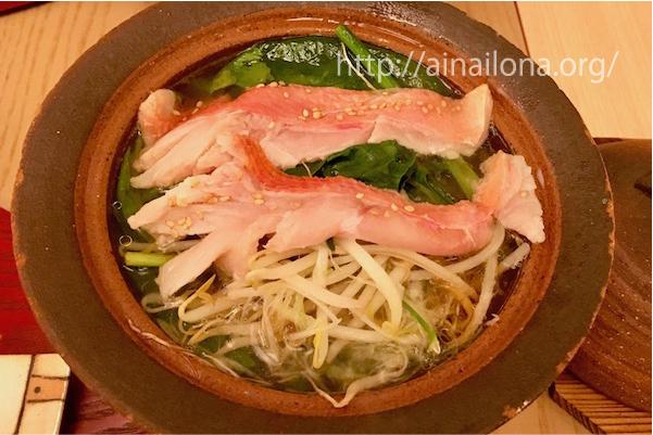 金目鯛変わり鍋