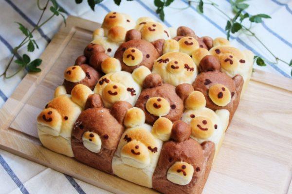 クマのちぎりパン