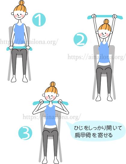 椅子ヨガ・肩こり解消・肩甲骨のストレッチ