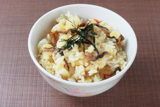 平野レミのキノコの吸い取り混ぜご飯のレシピ
