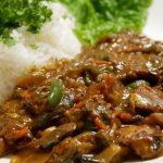 血管老化予防・豆腐とサバのカレーのレシピ