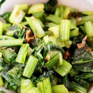 煎り酒で小松菜の煮びたしのレシピ