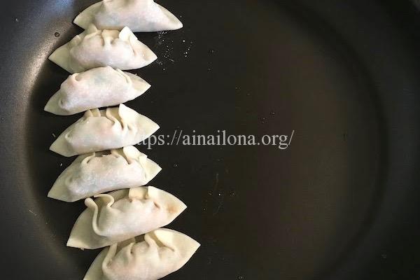 小倉優子の豆苗ギョーザのレシピ