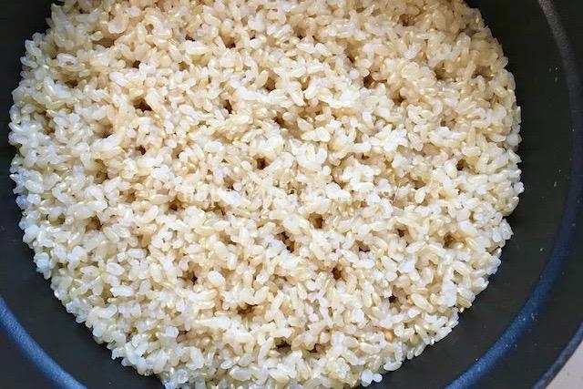 ストウブ鍋で発芽玄米の炊き方