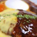 電子レンジ活用レシピ・チーズインハンバーグ